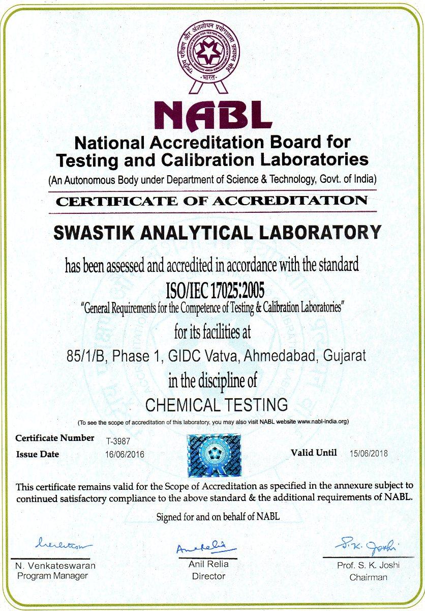 NABL-Certificate